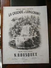 Partition Sheet Music 19 ème S Nouveau bois de Boulogne Cascade de Longchamp