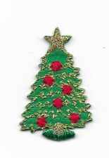 Christmas Tree Small Embroidered Iron On Patch 304648