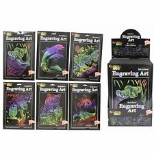 Gravure art rainbow set kit pochoirs outil craft magic papier à dessin rayer