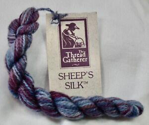 Thread Gatherer Sheep's Silk 50% silk 50% wool 25 yds Winter Sky gray/purple