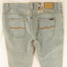 NEU Herren Nudie Grim Tim Stretch Slim Skinny blue Jeans w38 l32 Bnwt