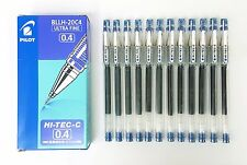 Pilot Hi-Tec-C 0.4mm Ultra Fine Roller Ball Gel Pen Blue 12pcs Set BLLH-20C4-L