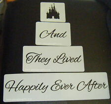 And They Lived Happily Ever After Castle Cake stencils Airbrush Mylar Film