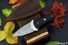 Custom Damascus Steel Skinning Hunting Knife Handmade,G-10 Micarta Handle (D445F