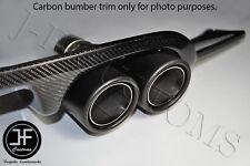 Genuine Satin Fibre de carbone en acier inoxydable Twin Exhaust Tip Muffler Inlet 62 mm