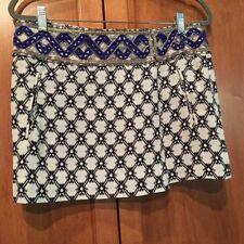 NWT $1335 Isabel Marant SZ 40/US 8 Maryia Blue Bead Embellished Mini Skirt