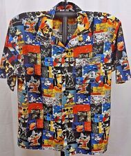Disneyland Resort Hawaiian Shirt Mickey Mouse/Fantasia/Donald Duck/Pluto XL