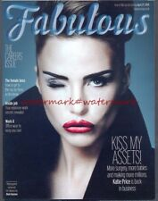 KATIE PRICE - Cover & Photo Feature in FABULOUS Magazine, April 2014. Free Post