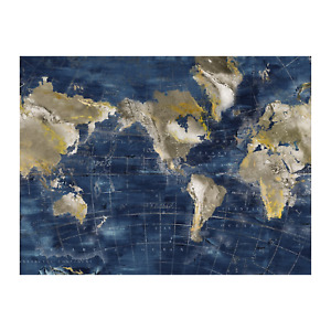 Painting World Print Artwork Wall Decor Canvas Stretched Wood Frame 90x120cm