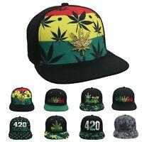 WEED Baseball Cap Marijuana Pot Cannabis Leaf 420 HIGHLIFE Snapback Hip Hop Hat