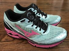 Mizuno Wave Riders 16 Women's Green Pink  Sport Running Athletic Shoes Size 9