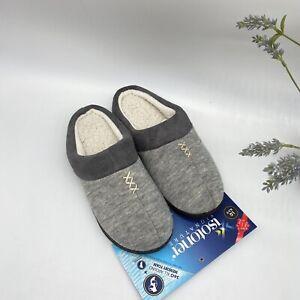 Women's Isotoner Marisol Microsuede Memory Foam Cushioned Grey Slippers