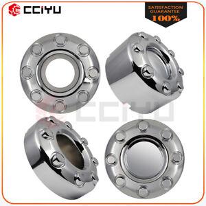 For 05-18 Ford F250 F350 4X4 Front & Rear Open Hub Wheel Center Cap Chrome 4PCS