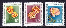 Germany  DDR 565-67 MNH 1961 Horticulture Exhib Tulip Dahlia & Rose Set VF