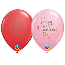 Party Supplies Valentines Day Script Red & Pink 28 cm Balloons Pk 10