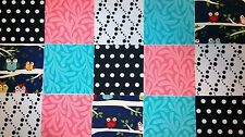 """40 5"""" Quilting Fabric Sqs  Owls Pack ! !!!"""