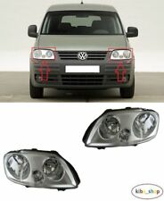 VOLKSWAGEN CADDY 2004 - 2010 2X NEW FRONT HEADLAMPS LEFT + RIGHT LHD