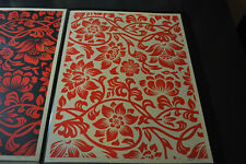 Shepard Fairey - Floral Takeover - Red & Cream - Obey Giant - S/N 2017