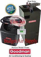 2.5 ton 14 SEER 410 Goodman A/C System GSX14030+ARUF31B14+50ft LineSet+HeatStrip