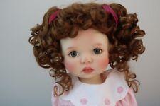 Monique ABBY Wig Golden Auburn Size 12-13 SD BJD shown on My Meadow SAFFI
