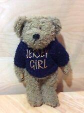 "Stuffed Animal Jersey Girl Bear 10""x8"", Pre-owned"