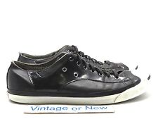 Men's Converse Jack Purcell Black Leather Sneakers sz 13