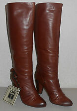 Auth FRYE 'Bethany' Strappy Soft Leather Boots Sz 10 ~ Saddle Brown ~ $398 NEW