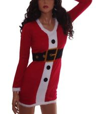 Womens SANTA Mrs Claus Ugly Christmas Sweater Party Dress S XL Plus 1X 3X NEW