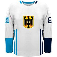 NEW 2019 Germany Team Europe Hockey World Cup Fan Jersey White NHL GREISS RIEDER