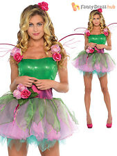 Deluxe Adult Ladies Fairy Tinker Costume + Wings Fairytale Womens Fancy Dress