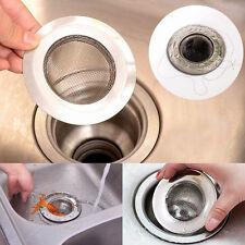 Stainless Steel Bathroom Kitchen Waste Plug Sink Drain Strainer Mesh Hole Filter