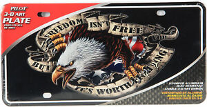 3D American Eagle Freedom License Plate by  Pilot Automotive