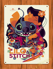 "TIN SIGN ""Lilo and Stitch Art"" Disney Movie Cartoon Wall Decor"