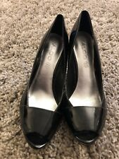 Ladies Sexy Black Patent Perp Toe High Heels - Size 6 - NEW - Aldo