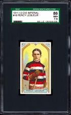1911-12 C55 Imperial Tobacco #16 Percy LeSueur HOF.  SGC 86 NM+  Centered!