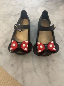 toddler girls minnie mouse mary jane shoes size 7 EUC