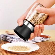 Kitchen Accessory Glass Stainless Steel Manual Pepper Salt Spice Mill Grinder UK