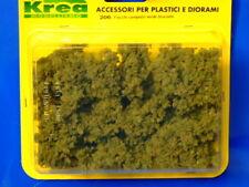 Cespugli verde bruciato per plastico ferroviario gr. 45 - Krea Modellismo 206