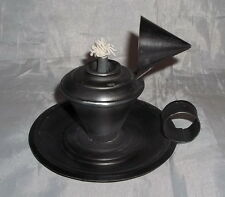 "Antiqued Tin Oil Lamp w/Snuffer - Colonial/Reenactment/Rendezvous/Powwow - ""NEW"""