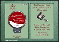 Royale Car Bar Badge + fittings - EDDY GRIMSTEAD VESPA SS180 HURRICANE - B1.2943