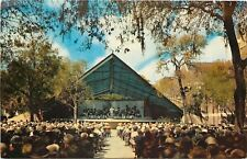 St Petersburg FL~5th Williams Park Band Shell~A-Frame~Conductor~Crowd~1950s