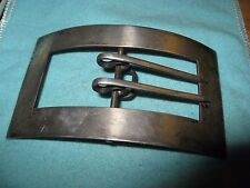 "Sterling Belt Buckle With Sharp Double Prongs for up to 1 1/8"" belt"