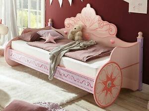 Kinderbett PRINCESS pink rosa Mädchenbett Kinderzimmer Prinzessin Kutsche Bett