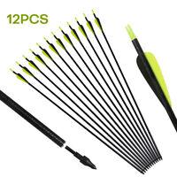"""12pcs 31"""" Archery Fiberglass Hunting Target Arrows SP500 Recurve & Compound Bows"""