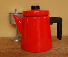 Coffee pot enamel ware Antti Nurmesniemi Arabia Finland Finel retro vintage red