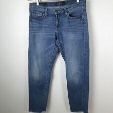 Lucky Brand Sienna Cigarette Cropped Jeans Size 8 / 29 Raw Hem Medium Wash M17