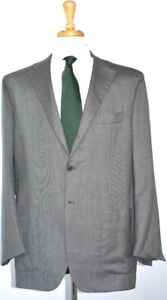 KITON Mens 3-BTN Gray Nailhead Cashmere Suit Size 56 EU/ 46 R US NEW $9500
