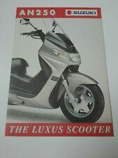 Prospectus Catalogue Brochure Moto Suzuki AN 250 Burgman 1999 Suisse