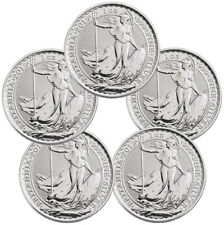 Lot of 5 2019 Britain 1 oz Silver Britannia £2 Coins GEM BU SKU55556