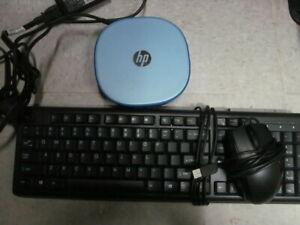 HP Mini Stream Desktop w/ USB keyboard + wired USB mouse, MX linux
